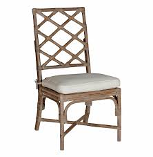 kennedy lattice back regency style linen rattan dining chair