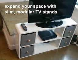 slim modular tv stand that fits anywhere  expand furniture