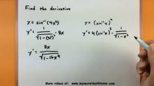 Calculus Find The Derivative Of Inverse Trigonometric Functions