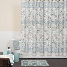 saturday knight ltd.  Ltd Saturday Knight Limited Modena Polyester Blue Patterneded Shower Curtain  72in X And Ltd T