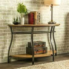 brown console table half circle accent red semi n