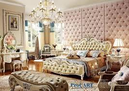 high end bedroom furniture. high end solid wood and leather bed baroque bedroom furniture set with nightstand,bed f