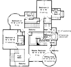 Victorian Style House Plans   Plan   Upper Second Floor Plan