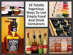 Clever Ways To Repurpose Empty Food And Drink Containers | DIY ...