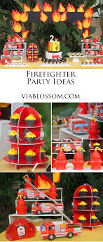 Firefighter Cupcake Decorations Firefighter Birthday Party Fireman Party Favor Boxes And To Miss