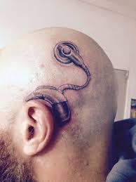 Roztomilé Otec Si Nechal Udělat Tetování Implantátu Důvod Vás