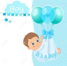 Baby Shower Invitation Cards Baby Boy Shower Card Vector Illustration Baby Shower Invitation