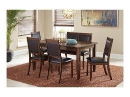 ashley dining room table set. meredy d395-325 6-piece dining room table set with bench by signature design ashley