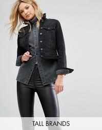 reliably vero moda black denim jacket tall dirt