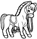 Раскраски лошади и пони