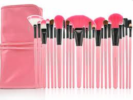harajuku cute makeup brush cosmetic set pink thumbnail 1