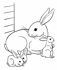 Coloring Pages Of Animals And Their Young