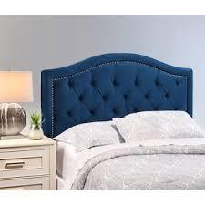 blue tufted headboard. Brilliant Blue Abbyson Hillsdale Tufted Nailhead Trim Ivory Velvet Headboard Option Blue   Finish And S