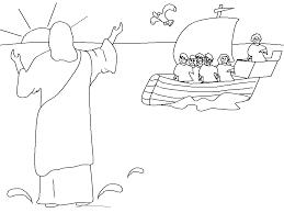 Petrus Loopt Over Water Naar Jezus Kindernevendienst Weblog