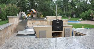 Granite For Outdoor Kitchen Kitchen Design Backyard Outdoor Kitchen On Stone Deck Floor With