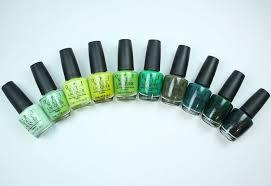 Nyc Nail Polish Color Chart My Favorite Green Opi Nail Lacquer Colors Vampy Varnish