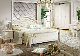 605# Luxury Royal Neoclassic Solid Wood Bedroom Furniture Perl White ...