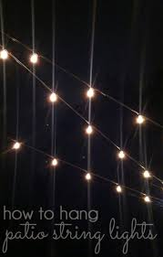outdoor style how to hang commercial grade string lights blue i how to hang patio string lights