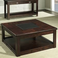 dark brown antique lacquered cherry wood coffee table square with glass top designs ideas for small li