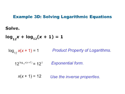 property logarithms example 3d 3a solving logarithmic equations screnshoots delicious