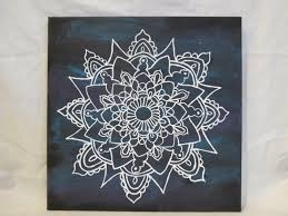 white mandala  mandala canvas painting  trendy wall art wall