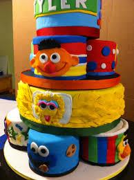 Red Velvet Sesame Street First Birthday Cake 10 Character Cakes Sign