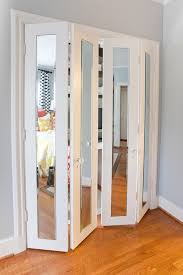 luxury folding closet doors with mirror ideas with blue wall and wooden floor bi fold doors home office