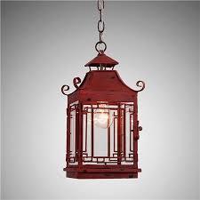 asian pendant lighting. Pagoda Lantern, Red Asian Pendant Lighting R