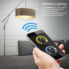 smartphone controlled lighting. iluv rainbow7 smartphonecontrolled bluetooth led mood light bulb smartphone controlled lighting