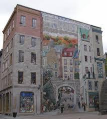 quebec city wall mural