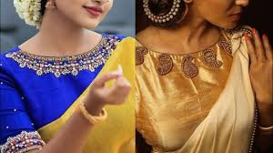 Boat Neck Blouse Designs For Saree Beautiful Boat Neck Saree Blouse Designs Ideas For Indian Wedding Outfits Boat Neck Embroidery Ideas