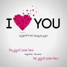 Love Greeting Cards For Lover With Name Wishes Greeting Card Simple Love Pics With Name Edit