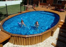 cozy bamboo frame pool with blue water swimming pools at wallmart