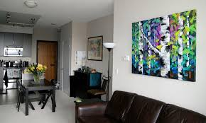 aspen birch tree painting on canvas by canadian abstract landscape artist melissa mckinnon colourful acrylic art learn from the fall  on birch tree wall art canada with aspen birch tree painting on canvas by canadian abstract landscape