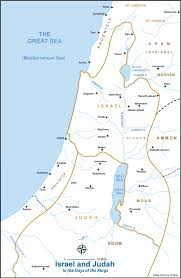 Map of Israel and Judah in the Book of Kings | Bible Study ...