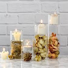 cylinder tea light candle holders set of 4