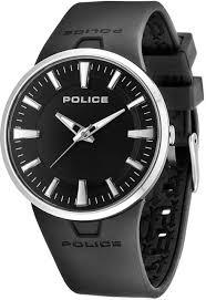 police men s watch xl analogue rubber quartz dakar p14197js 02 police dakar black analogue dial black rubber strap designer watch pl14197js 02