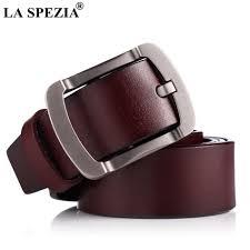 Burgundy Designer Belt Us 10 88 61 Off La Spezia Men Leather Belt Genuine Cowskin Burgundy Pin Buckle Belt Vintage Fashion Designer Brand Real Leather Male Jeans Belt In