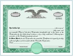 Stock Certificate Template Word Template Resume Examples