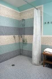penny tile backsplash round bathroom modern with mosaic tiles traditional bath sheets penny tile backsplash