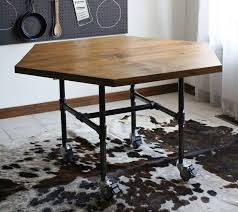 iron industrial furniture. diy honeycomb table with industrial pipe legs a beautiful mess iron furniture h