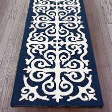 navy blue runner rug concorde non slip navy blue cut to