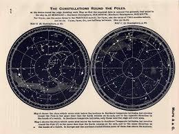 C 1955 Constellations Map Vintage Astronomy Print