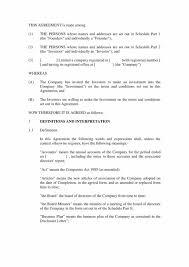 Investment Agreement Templates 9 Restaurant Investment Agreement Pdf