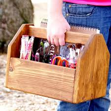 wooden tool box etsy. items similar to vintage tool box inspired - wood art caddy garden carrier picnic basket notions on etsy wooden p