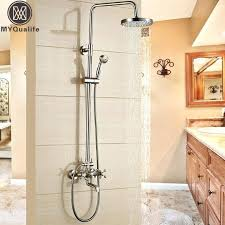 two handle shower faucet brushed nickel 3 handle tub