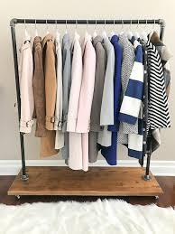 clothing rack diy industrial pipe rolling clothing rack with cedar wood shelf on wheels