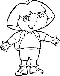 Dora Clipart Black And White Free Clip Art Images 28671