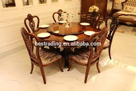 dining table with rotating center black gl round