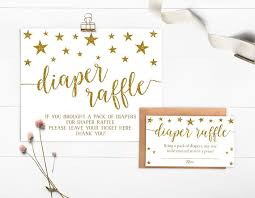 raffle sign twinkle twinkle little star diaper raffle instant download diaper